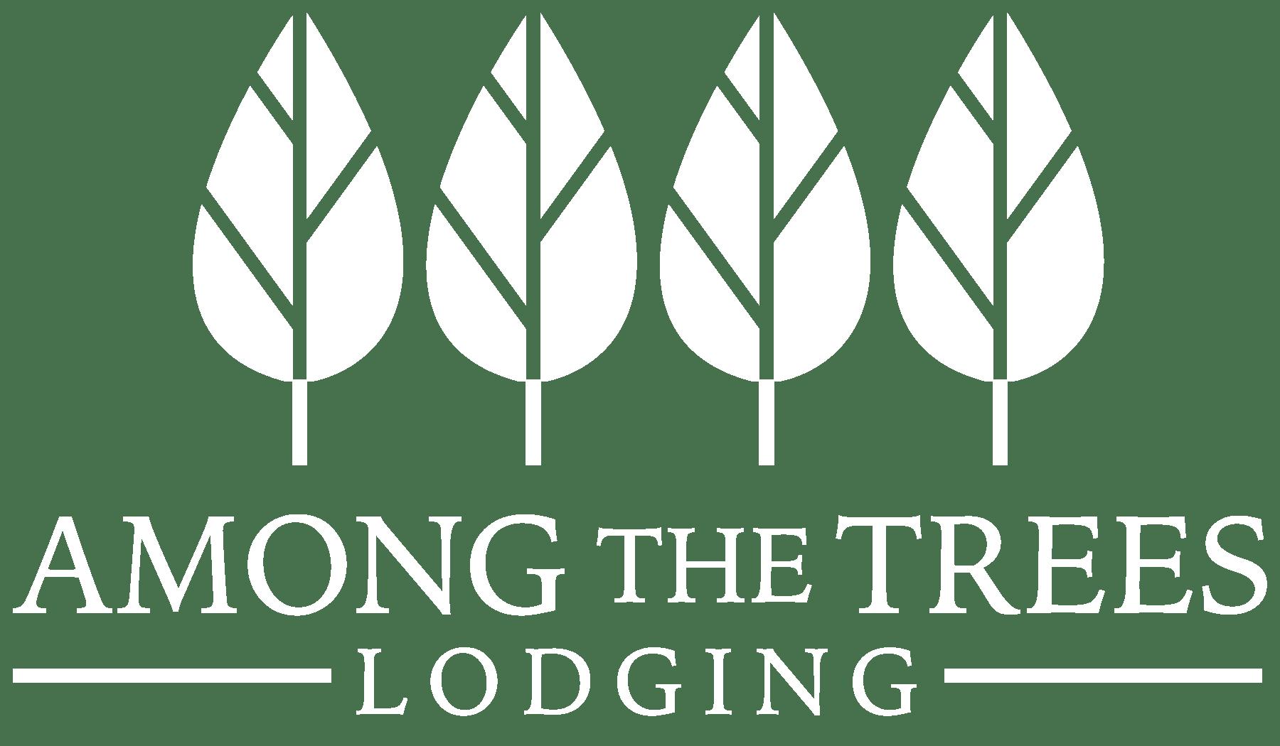 Among the Trees white logo
