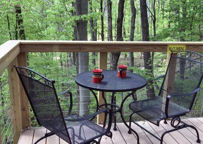 Safari Treehouse deck sitting area