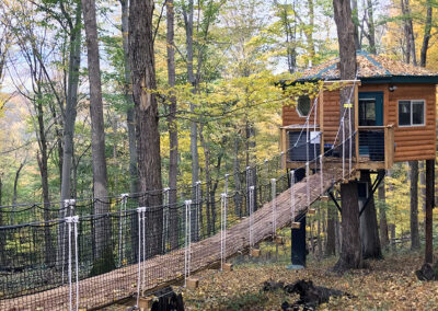 Safari Treehouse in the autumn