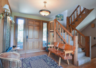 Blissful Ridge Lodge foyer