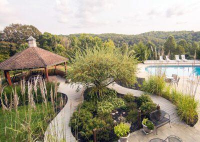 Blissful Ridge gazebo and pool