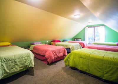 Beehive bedroom at Blissful Ridge Lodge