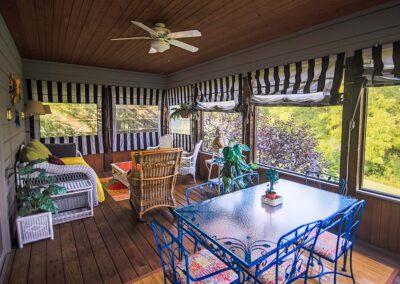Blissful Ridge screened porch